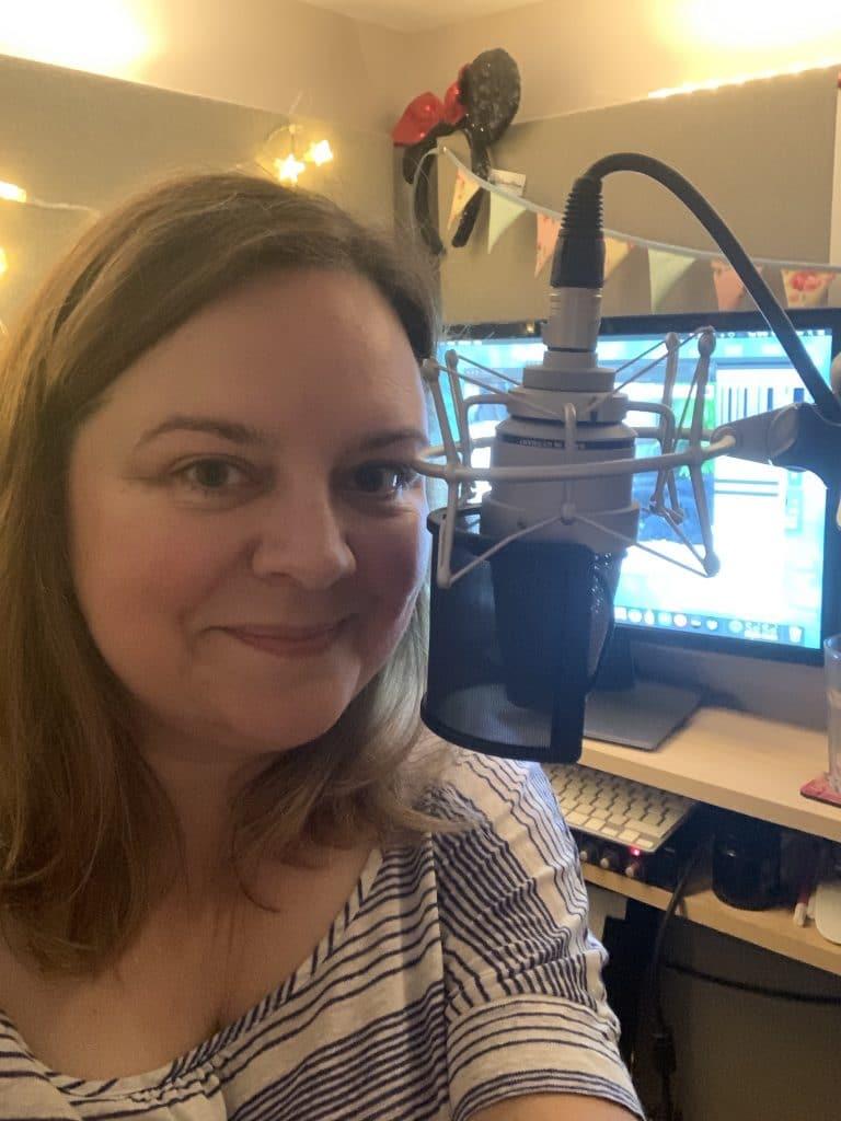voiceover Natalie Cooper in her studio